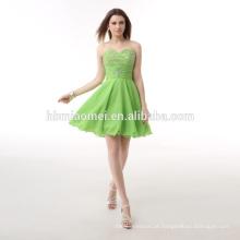 Custom made Evening jantar vestido curto cor verde faixa elegante camadas taobao vestido de noite