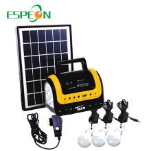 Espeon Nouveau produit 3W 12V mini système de panneau solaire portatif