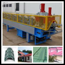 Roof Ridge Cap Tile Parts Máquina formadora de rollos