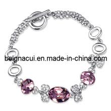 Sw Elements Crystal Light Rose Color Magnetic Cheap Custom Bracelet (wwtfm00190 (2))