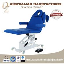O CE do padrão europeu aprovou as cadeiras elétricas do Podiatry da tabela do tratamento da cama do exame