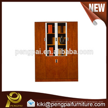 Ubiquitous wooden glass filing cabinet with four doors
