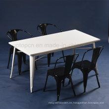 Comercial de 4 plazas Tolix cocina de mesa de café conjunto (SP-CT674)