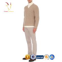 Chunky tricoté hommes épais pull en cachemire 100%