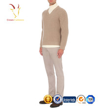 Chunky knitted men thick 100% cashmere sweater