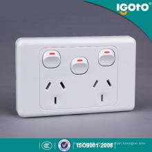 SAA Zertifikat Australien Double Power Point 10A Doppel GPO mit Extra Switch