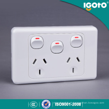 Certificado SAA Austrália Duplo Power Point 10A GPO Duplo com Interruptor Extra