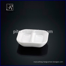 2015 chaozhou porcelain factory square compartment saucer dish wasabi&soy saucer dish