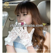 newest white short lace party gloves