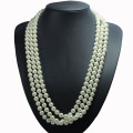 Long Multi Strand Pearl Necklace Kostymsmycken