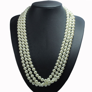 Long Multi Strand Pearl Necklace Kostuum Sieraden