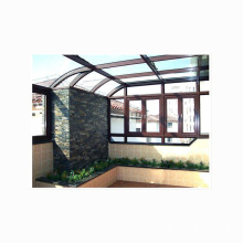 Luxury tempered insulated glass green house aluminum sun room