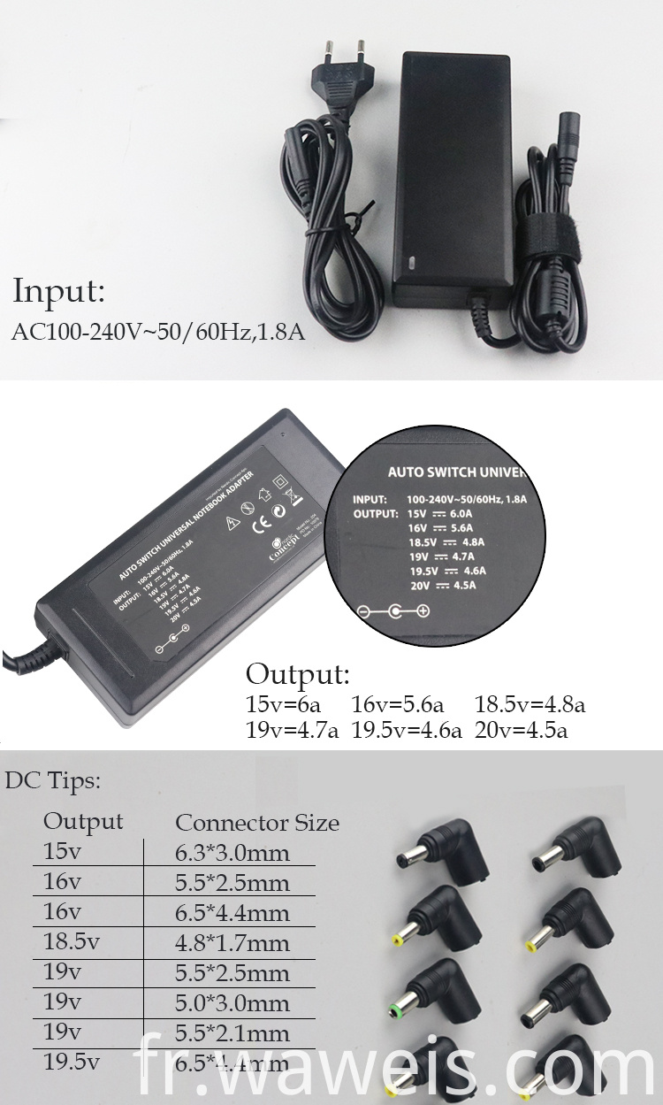 Universal ac adapter