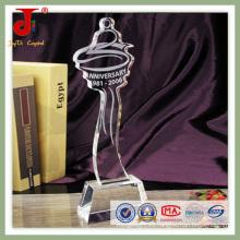 Trofeo deportivo de cristal para campeón (JD-CT-411)