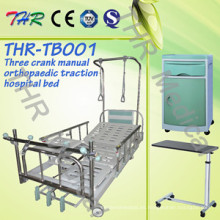 Hospital Cama de tracción ortopédica manual de 3 manivelas (THR-TB001)