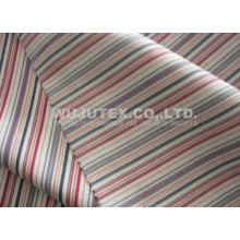 Soft Handfeel Cotton Nylon Fabric Spandex, Twilled Weave Stripe Cloth Material