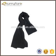 Wholesale solid color plain cheap cashmere winter scarf for man