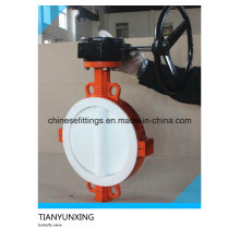 Cast Iron Body PTFE Lined Wafer Butterfly Valve