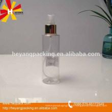 Botella plástica de la bomba de plata de la presión del cosmético