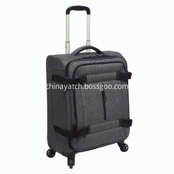 Snow flake soft luggage with spinner wheels