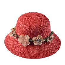 Chapéu de sol usado da mulher elegante para a planta da venda