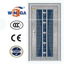 Middle East Market Porta de metal de segurança de aço inoxidável (W-GH-21)