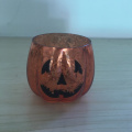 Halloween Amber Mercury Glass votief kaars houders