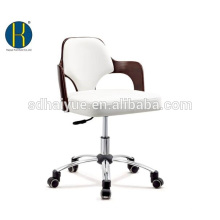 Elegantes braunes hölzernes weißes Kunstleder Büromöbel