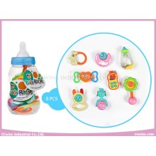 Baby Rattles Toys in Cute Bottle (8PCS)