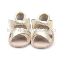 custom logo new summer baby handmade genuine leather baby sandals
