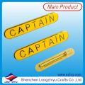 Rectángulo chapado en oro insignia con pin de insignia Pin de seguridad