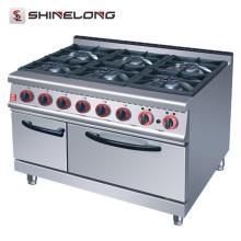 Equipamento de cozinha de série completa Free Standing 4/6 Burners range de gás