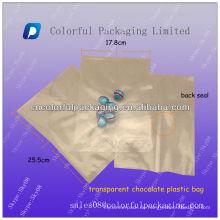 Plastiktüte für Schokoladenverpackungen / Transparente Lebensmittelverpackungsbeutel für Kekse und Schokolade / Trockene Fruchtverpackungsbeutel 250g