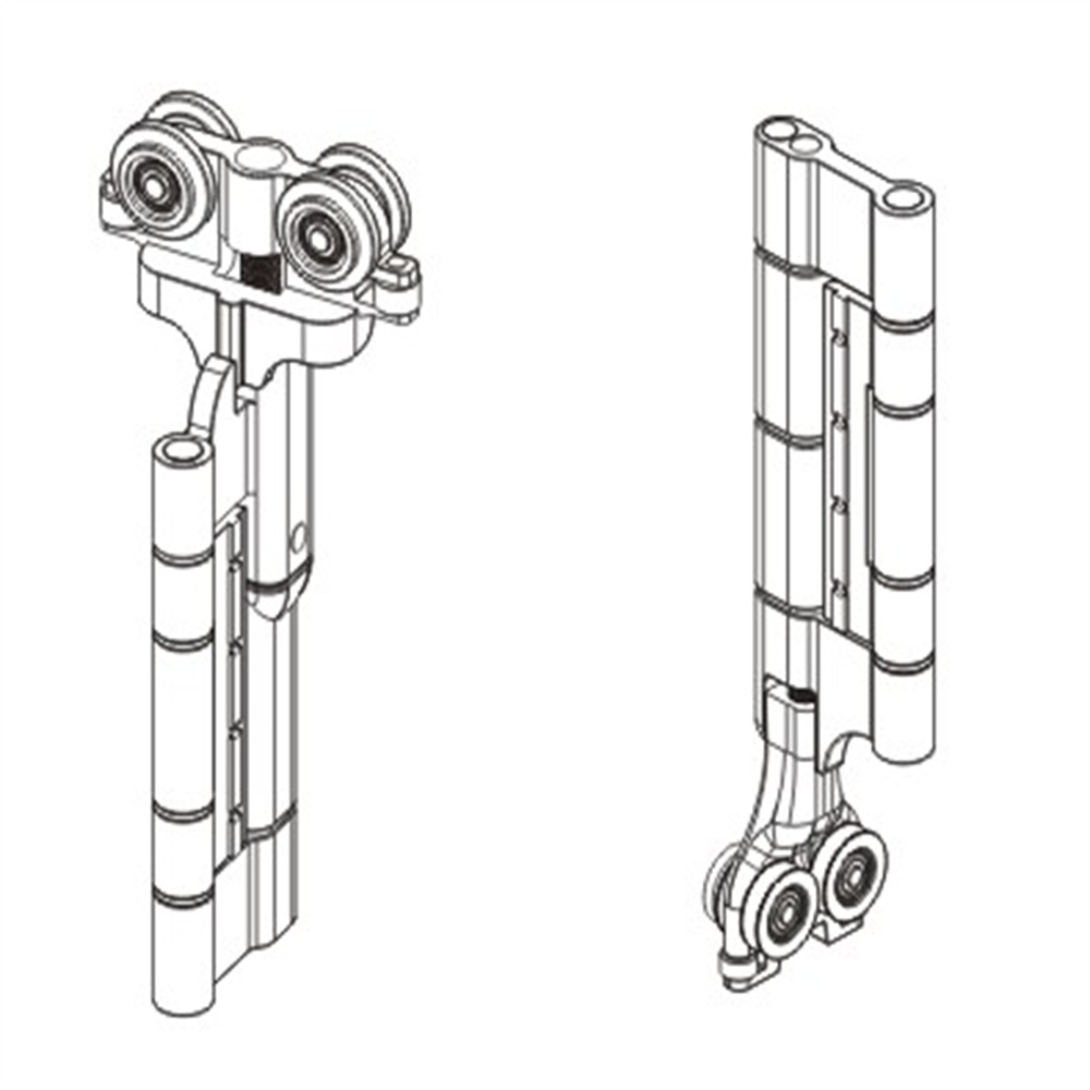 high quality zinc alloy slide & fold door bottom roller 3