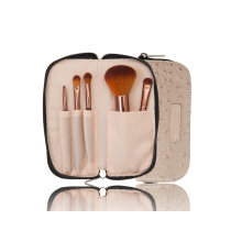 Synthetic Hair Makeup Tool Cosmetic Brush with Zipper Pouch