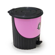 Round Creative Plastic Pedal Dust Bin (YW0082)