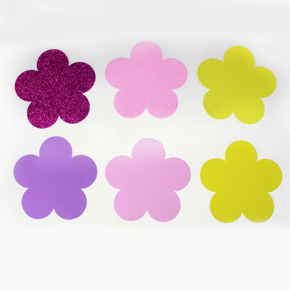 Flower diecut foam glitter assorted