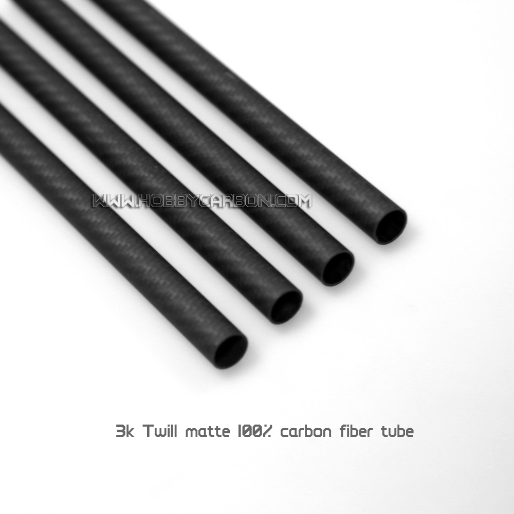 15 * 12 * 1000mm Carbon Fiber Tubes Matt Finish