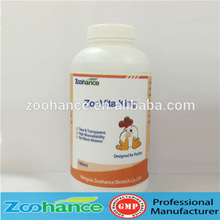 Animal feed additive water soluble liquid multivitamin