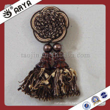 High Quality Handmade Round Tassel Curtain Clips For Home Textile Decorative