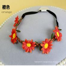 Hippie Love Flower Garland Hair Wreath (HEAD-351)