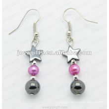 Magnetic Hematite Star Beads Earrings