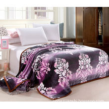 100% Polyester Luxury Super Soft Flowers Printed Flannel Blanket