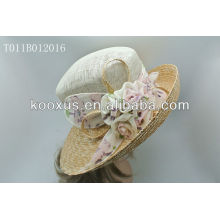 Church woman hats with sinamay material