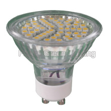 GU10 Lâmpada LED TUV / CE / RoHS (48SMD 3528 com tampa de vidro)