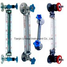 Calibre de niveau d'eau en tube de verre transparent acrylique