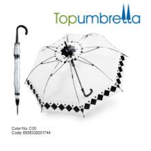 Neue Ankunftsgewohnheit PVC-transparente Regenschirme Neue Ankunftsgewohnheit PVC-transparente Regenschirme