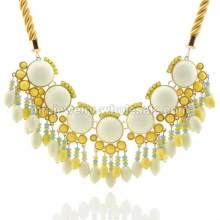 Канат связь цинка сплав инкрустация Faux жемчужина золото покрытием моды цепи ожерелье