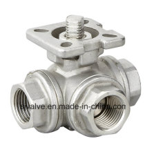 3 Way Ss Ball Valve with ISO5211 3