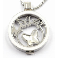 Custom Made Stainless Steel Locket Pendant with Enamel Top